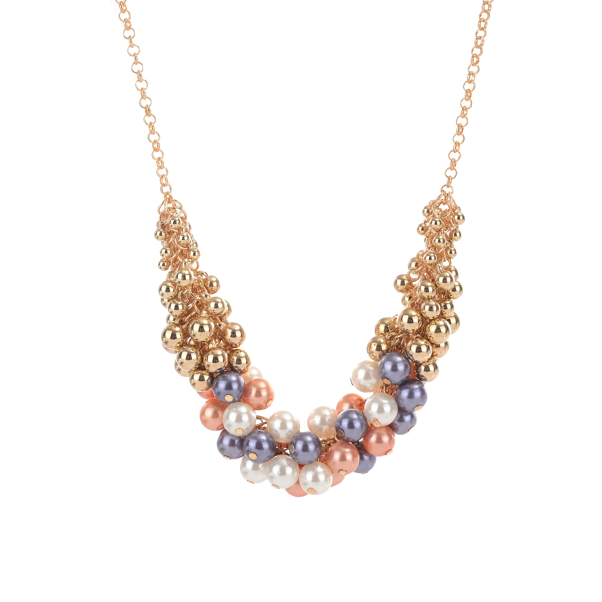YMN-06084 new designs handmade beads with pearl  necklace Yiwu Jewelry Factory Fashion Accessories Manufacture Fashion Jewelry Supplier.